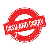 Cash And Carry rubber stamp Stock Photos