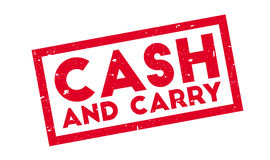 Cash And Carry rubber stamp Royalty Free Stock Photos