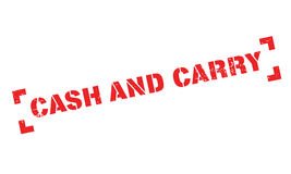 Cash And Carry rubber stamp Royalty Free Stock Image