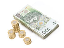 Cash and change (2) Royalty Free Stock Image
