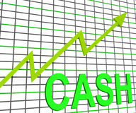 Cash Chart Graph Shows Increase Wealth Royalty Free Stock Photos