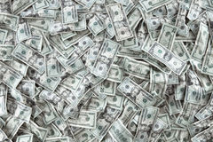 Cash. Close up view of cash money dollars bills in amount royalty free stock photography