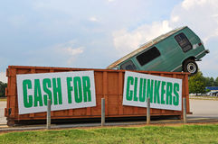 Cash for Clunkers. US Government Consumer Assistance to Recycle and Save Program Stock Photo