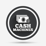 Cash and coin machines sign icon. Paper money. Royalty Free Stock Image