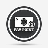 Cash and coin sign icon. Pay point symbol. Royalty Free Stock Photography