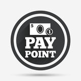 Cash and coin sign icon. Pay point symbol. Stock Image