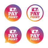Cash and coin sign icon. Pay point symbol. Royalty Free Stock Image
