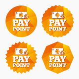 Cash and coin sign icon. Pay point symbol. Royalty Free Stock Photo
