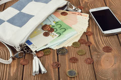 Cash and coins Royalty Free Stock Image