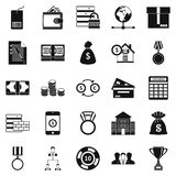 Cash costs icons set, simple style Stock Images