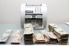 Cash and counter Royalty Free Stock Photo