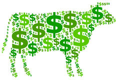 Cash cow. A cash cow generating a steady amount of profit Royalty Free Stock Image