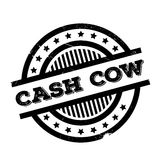 Cash Cow rubber stamp. Grunge design with dust scratches. Effects can be easily removed for a clean, crisp look. Color is easily changed Stock Image