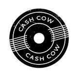 Cash Cow rubber stamp. Grunge design with dust scratches. Effects can be easily removed for a clean, crisp look. Color is easily changed Stock Images