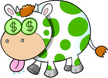Cash Cow Vector Illustration Art Royalty Free Stock Image