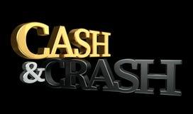 Cash and crash 3d rendering Stock Photos