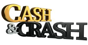 Cash and crash 3d rendering Stock Images