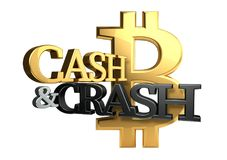 Cash and crash 3d rendering Stock Image