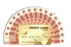Cash with credit card Stock Images