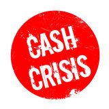 Cash Crisis rubber stamp Stock Image