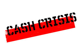 Cash Crisis rubber stamp Royalty Free Stock Photo
