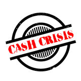 Cash Crisis rubber stamp Royalty Free Stock Image