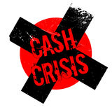 Cash Crisis rubber stamp Stock Photography
