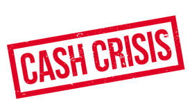 Cash Crisis rubber stamp Royalty Free Stock Photography
