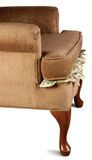 Cash Cushion. Cash lost in cushion, Dollars, chair, money royalty free stock image