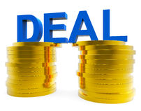 Cash Deal Represents Money Wealth And Transaction Stock Image