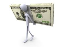 Cash delivery. 3D rendered Illustration.  Carrying your cash Royalty Free Stock Photos
