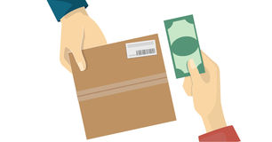 Cash on delivery,COD service Stock Images