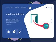 Cash on delivery Landing page website template design. Quality One Page cash on delivery Website Template Vector Eps, Modern Web Design with flat UI elements and Stock Images