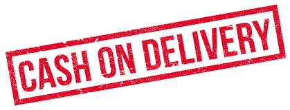 Cash On Delivery rubber stamp Royalty Free Stock Photography