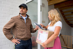 Cash on Delivery Royalty Free Stock Photography