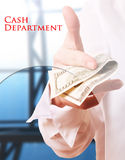 Cash department Stock Photography