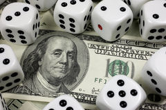 Cash dice Royalty Free Stock Images