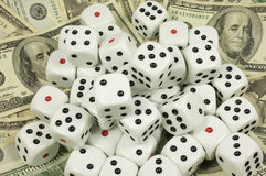 Cash and dice Royalty Free Stock Image