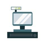 Cash dispenser vector illustration. Stock Image