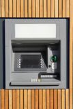 Cash dispensing machine. At a bank Stock Photos