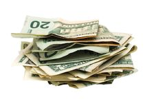 An cash dollar bunch. An isolated money bunch in business field Stock Photography
