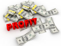 Cash dollar profit Stock Photo