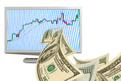 Electronic trading on the Stock Exchange. Royalty Free Stock Photos
