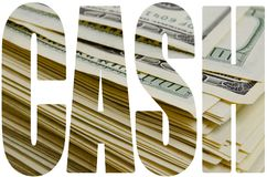 Cash. Cash dollars lying on the plane stock images
