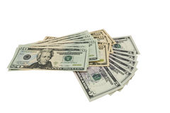 CASH. Dollars, cash money notes, isolated on a white background royalty free stock photography
