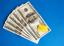 Cash and envelope Royalty Free Stock Image