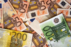 Cash - Euro Banknotes royalty free stock photography