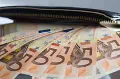 Cash, euro Royalty Free Stock Images