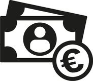 Cash euro coins and note. Vector vector illustration
