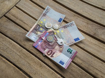 Cash Euro and key Royalty Free Stock Photos